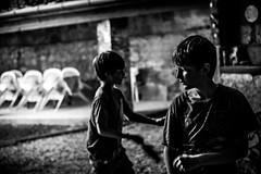 Playing ping pong (PaxaMik) Tags: portraitnoiretblanc portrait kidb§w kidsplaying pingpong countryside frenchcountry ferme farm