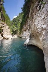 Acheron River -  Epirus Greece (massonth) Tags: river rocks cliff montains water blue fresh sky greece epirus acheron acherontas gliky europe landscape peace