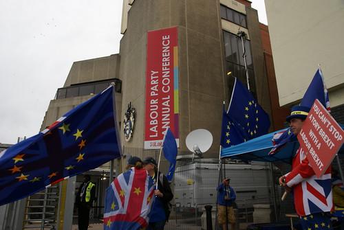 Demonstrators in Brighton