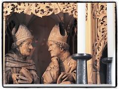 Bischöfe Augustinus und Ambrosius (1elf12) Tags: heilbronn kilianskirche church germany deutschland marienaltar hansseyfer