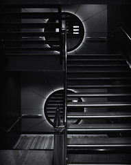 Staircase (Timmy_L) Tags: sigmaex1850mmf28 pentax kp ncl norwegian getaway cruise ship staircase black white contrast up down