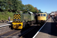 D9531 and 33035 at Bury (jon33040) Tags: class33 eastlancsrailway bury 33035 class14 d9531