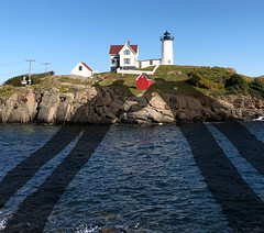 Late Afternoon Shadows (Rusty Russ) Tags: nubble lighthouse long shadow late afternoon sun york maine usa colorful day digital flickr country bright happy colour scenic america world sunset sky red nature blue white tree green art light cloud park landscape summer old new photoshop google bing yahoo stumbleupon getty national geographic creative composite manipulation hue pinterest blog twitter comons wiki pixel artistic topaz filter on1 sunshine image reddit tinder russ seidel facebook timber unique unusual fascinating