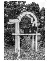 Mailbox Frame (NoJuan) Tags: tukwila seattle washingtonstate microfourthirds micro43 mirrorless m43 mft gx85 panasonicgx85 918mm olympus918mm bw blackwhite blackandwhite digitalbw mailboxes