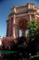 Palace of Fine Arts in San Francisco (4 of 4) (Phil Heneghan) Tags: iso100 35mmnegative digitized vuescan july 1997 roll19970705to06 sanfrancisco california usa summer nikoncoolscanls40 nikoncoolscanived fujireala canoneoselaniie palaceoffinearts neg06