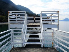 Stairway to Heaven (knightbefore_99) Tags: sea sky bc canada west coast awesome great pacific porteau cove squamish ocean water stairway heaven lines steps art