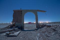 The South Arch (Nocturnal Kansas) Tags: night nocturnal moon full led1 protomachines d800 nikon nightphotography lightpainting longexposure california sea salton spa ice desert