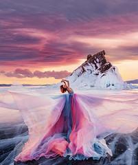 Baikal sunset (hobopeeba) Tags: baikal hobopeeba frozen lake blue clean beautifuldestination
