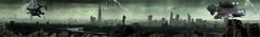 Une anticipation de notre Monde (Christabelle12300 & Pitchounet (I am entitled to 1) Tags: england landmark landscape london architecture atmospheric city cityscape dark mist panorama rain silhouette skyscraper storm tallbuildings unitedkingdomofgreatbritainandnorthernireland