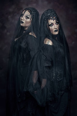 Infernal (Wurmwood Photography) Tags: nikon godox fovitec beauty dark halloween gothic goth eyes makeup models women woman black veil creative ethereal scary light lighting