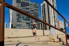 Morning Run (dangaken) Tags: chicago chicagoil il illinois windycity fujifilmxt2 fujifilm fuji xt2 fujixt2 chi street streetphotography lakefronttrain lakefront lakemichigan jog run running sport exercise sportsbra brunette rail railing trail lakeshore lake compressionsocks shorts runningshoes workout fujixf1655mmf28rlmwr fujifilmxf1655mmf28rlmwr xf1655mmf28rlmwr fujinonxf1655mmf28rlmwr