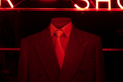 Tailor Shop - IMG_1024 (T. Brian Hager) Tags: tailorshop suit tie neon red window color digital canon canoneos7d