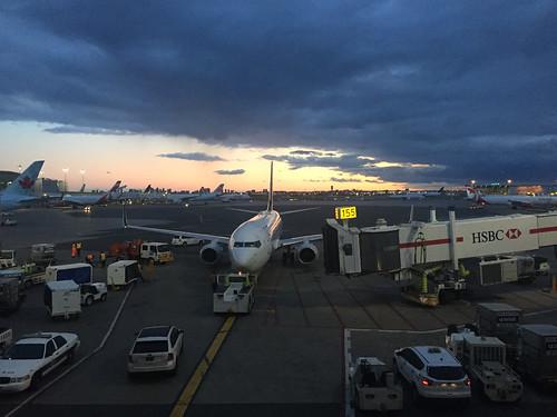 Air Canada sunset