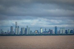 A look at the city of Buenos Aires from the ferry heading to Uruguay