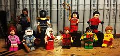 Villains and Titans (Doctor Allo) Tags: lego dc teen titans shado cupid snowflame prometheus wonder girl kid flash robin speedy red arrow aqualad