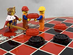 2019-266 - Checkers Day (Steve Schar) Tags: checkerboard masterbuilder emmet king game checkersday checkers minifigure lego project365 sunprairie wisconsin 2019