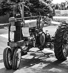 1938 John Deere A (wyojones) Tags: wyoming homsteaderday powell parkcounty johndeere tractor horsepower display modela sicklemower farm bw blackandwhite monochrome grayscale
