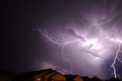lightning double strike (scott a borack) Tags: monsoon arizona sky clouds storm lightning