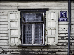 A window with shutters of a dilapidated house (Luc V. de Zeeuw) Tags: dilapidated house shutters window ventspils latvia