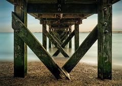 Under the boat launch (david.travis) Tags: unitedkingdom beach england pier water slow essex southendonsea longexposure coast milky landscapephotography coastline longexpo seashore slowshutter