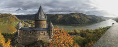Burg Stahleck Pano (Parchman Kid (Jerry)) Tags: burg stahleck panorama pano autumn fall rhein river landscape castle parchmankid jerry burchfield bacharach germany sony a6000 burgstahleck specialtouch