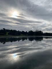 Silver reflections (markshephard800) Tags: sunlight sun renfrewshire barshawpark trees silver light clouds water reflections scotland paisley park