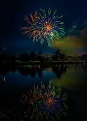Firework over Freeman (Explored) (sniggie) Tags: elizabethtown fourthofjuly freemanlakepark hardincounty independenceday kentucky celebrate celebration fireworks