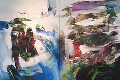 """Hernando León - Titel: """"Die Fremden"""" Vertreibung. (schubertj73) Tags: hernando leon león parktheater iserlohn ausstellung exhibition fotografie foto fotos photo photography photos photoart photographien malerei painting paintings paint acryl bild bilder begegnung encounter art artwork artworks artphoto artphotography artist kunst kunstwerk kunstfotografie künstler schubertj73 fujifilm x10"""