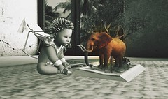 you have this power to make things become real, my son trust in you (Khewel) Tags: animesh baby elephant hope strengh love secondlife kid tomorrow changement enfant espoir demain