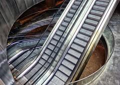trappenhal (roberke) Tags: architecture architectuur modern nieuw new roltrappen shoppingcenter winkelcentrum escalators lijnenspel lijnen lines inox rvs treden steps