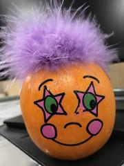 Purple-haired pumpkin (f l a m i n g o) Tags: purple hair season fall mini tiny face pumpkin