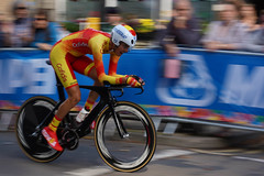 Spain (jillyspoon) Tags: cycle cyclist worldchampioships harrogate northyorkshire yorkshire welcometoyorkshire uci timetrials spain juniormentimetrials yorkshire2019 suitsonysony a7 iiisony 85mm85mmprime 85mm primelens panning pannedshot action lycra a7iii explroe explore