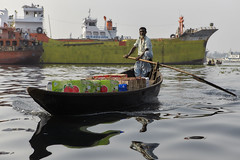 1102063643 (ak-67) Tags: water people asia boats maritime dhaka bangladesh transport river