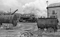 Andrew Barclay 0-4-0ST No 2274 (1949) Bowes No 22 shunts chaldron wagons in Beamish Colliery Yard on the 15th March 2013 (robinstewart.smith) Tags: barclay no 22 040st beamish colliery yard chaldron wagons shunting bowes railway 2013
