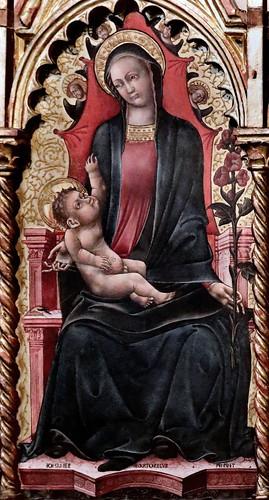 IMG_7561A Giovanni Martorelli. active 1439 -1480 (?) Brescia Milano Politicco Polyptych vers 1460 Bologna Pinacoteca Nazionale
