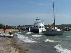 Boats being damaged by lost mooring off Wards Island Beach