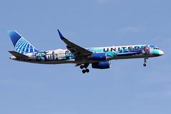 B757-2.N14102-1 (Airliners) Tags: ual united unitedairlines unitedairline 757 b757 b7572 b757200 b757224 boeing boeing757 boeing757200 boeing757224 speciallivery specialcs herarthere corinneantonelli iad n14102 92319