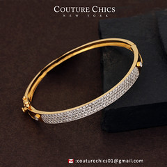 Natural Diamond Pave Designer Bangle Bracelet Solid 14K Yellow Gold Handmade Jewelry (couturechics.facebook1) Tags: natural diamond pave designer bangle bracelet solid 14k yellow gold handmade jewelry