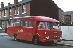 Gleeson ( Contractor ) . NKK869M . Eccles , Manchester . Sunday 30th-September-1979 . (AndrewHA's) Tags: bus gleeson national contractor ford d stormont engineering nkk869m staffbus