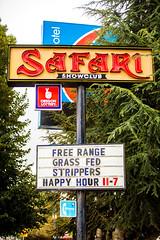 Free Range Grass Fed Strippers (Thomas Hawk) Tags: america oregon pdx portland safari safarishowclub usa unitedstates unitedstatesofamerica westcoast neon neonsign stripclub fav10 fav25 fav50