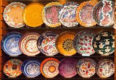Ceramic dishes (Ziad Hunesh) Tags: ceramics ceramicdishes craft colourful dishes ceramic collection artmarket shoplocal handcrafted handmade pottery porcelain porcelainart pottersofi art turkey türkiye istanbul canon tamron travel zhunesh