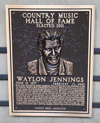 Waylon Jennings Plaque in the Country Music Hall of Fame (big_jeff_leo) Tags: country music american america legend outlaw monument plaque