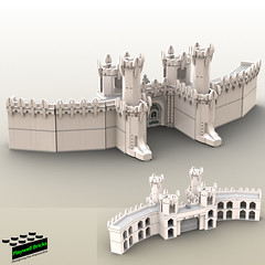 Minas Tirith wall design complete (Playwell Bricks) Tags: lego legotechniques legoideas legophotography legopictures legoart art design architecture creativity lordoftherings lotr legolordoftherings toys toyphotography
