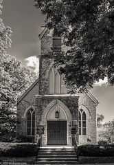 St. Mark's Church (Jim Frazier) Tags: f10 2019 20190905genevephotowalk anglican architectural architecture art bw blackandwhite bluesky buildings centered centralperspective church city desaturated detail diagonals door elegance elegant fall headon historic historical history houseofworship il illinois jimfraziercom kane landmarks linedup loadcode201909 monochrome nationalregisterofhistoricplaces nrhp old oldified perpendicular photowalk q4 religion religious sacred sepia september sizeover1000 spiritual stmarks stmarkschurch stairs stately steps stone structures summer sunny symmetrical symmetry texture tree trees triangles urban verticals worship