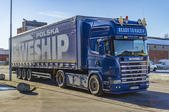 Scania 124L 420 (2004 1.350.000km) - Ready To Race - Polska BEWESHIP (Malmöstad) Tags: scania 124l 420 2004 1350000 km ready to race polska beweship sweden malmo malmö swedish sverige svensk truck lkw nordic camion lastbil vognmand scandinavia skandinavien scandinavie logistics wagen trailer anhänger transport åkeri lorrie lorry spedition poland polski polen netherland dutch holland norge norway polish danish danmark denmark rim michelin container bibendum lights joab mst dolly road car sky style tuning custom hella streamline vabis highline topline intercooler v8