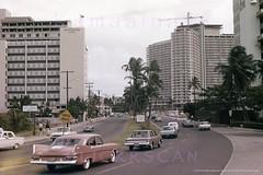 Ilikai Driftwood Ala Moana 1964 (Kamaaina56) Tags: 1960s waikiki hawaii streetview ilikai slide alamoana