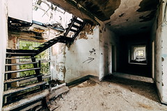 . (halagabor) Tags: urban urbex urbanexploration urbanexploring urbexphotography urbexphotos lost lostplaces forgotten abandoned abandonment decay derelict devastation nikon d610 manualfocus architect architecture building indoor stairs stairway