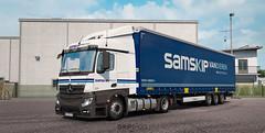 (gripshotz) Tags: mercedes actros mp4 samskip van dieren multimodal skin krone mega liner trailer euro truck simulator ets 2