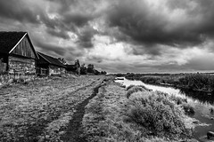 Rural Poland (Piotr_Lewandowski) Tags: jagłowo biebrza biebrzańskiparknarodowy village rural ruraldecay decay abandoned rusty poland polska landscape cloud cloudy rain europe travel blackandwhite blackwhite bw bnw mono monochrome