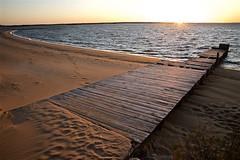 Le soleil se lève sur le vieux ponton (mifranc91) Tags: nikon d700 2485 ponton sunrise mer sea bois sable sand wood traces reflets soleil